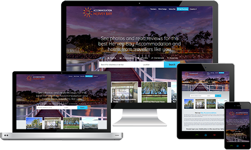 Hervey Bay Accommodation displayed beautifully on multiple devices